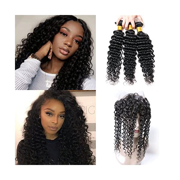 Brazilian Deep Wave 360 Lace Frontal Blue Magic Hair Extensions