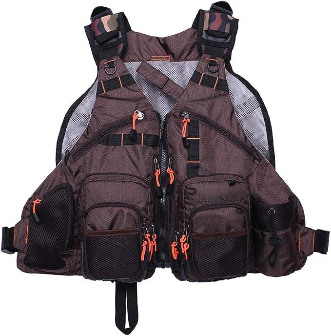 Mesh Fly Fishing Vest Pack Atmungsaktive Jagd Atmungsaktive Weste Jacken