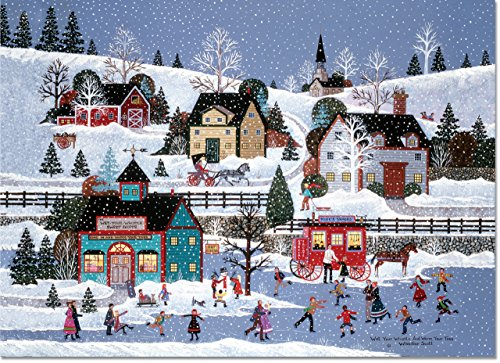 Village Cheer Deluxe Boxed Holiday Cards (Christmas Cards, Greeting Cards)