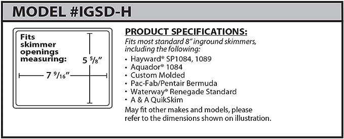 Amazon Com Skimmer Plug Igsd H H Series Standard In Ground Pool Skimmer Winterizing Plug Garden Outdoor