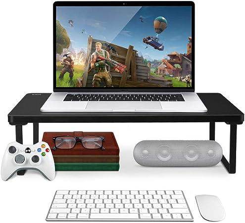 Sheng QI Soporte para Monitor de computadora |Levantador de Pantalla para computadoras, laptops y televisores |Utilice la gestión de Cables, el Bastidor de Almacenamiento - 20.5cmX10.3cmX5.3cm A ++: Amazon.es: Hogar