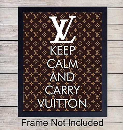 Louis Vuitton Unframed Wall Art Print - Makes a Great Gift for Fashion Lovers and Designers - Chic Home Decor - Ready to Frame (8x10) Vintage Photo - Keep Calm and Carry Vuitton ()