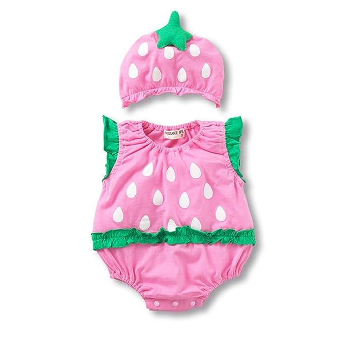 Newin Star Ropa para bebé,Traje de bebé Batas con Sombrero de Verano Atrezzo fotografia