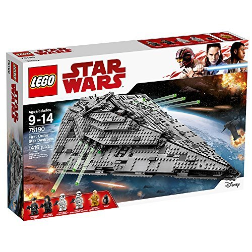 LEGO Star Wars VIII First Order Star Destroyer 75190 Building Kit (1416 Piece)