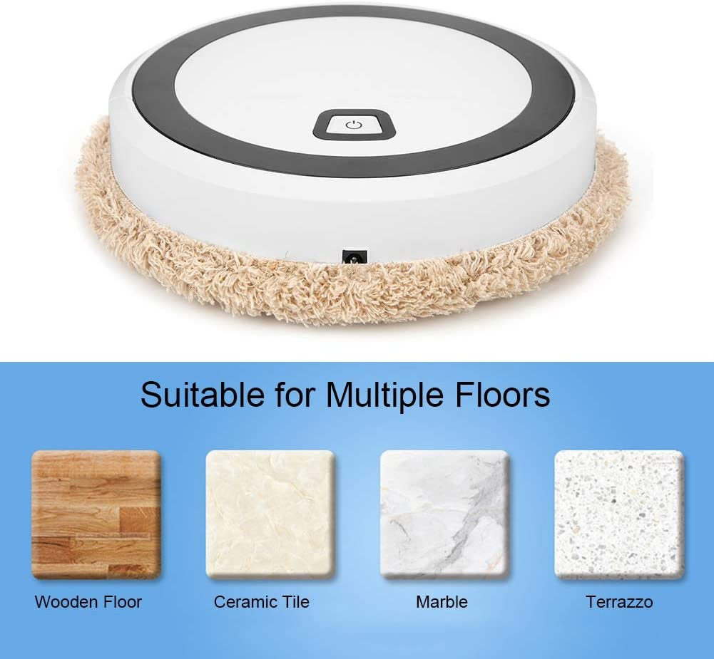 Medium-Pile Carpets Pet Hair Robot Vacuum Cleaner,Intelligent Sweeping Robot Automatic Household Mini Mopping Machine USB Charging Sweeper for Home Hardwood Floors