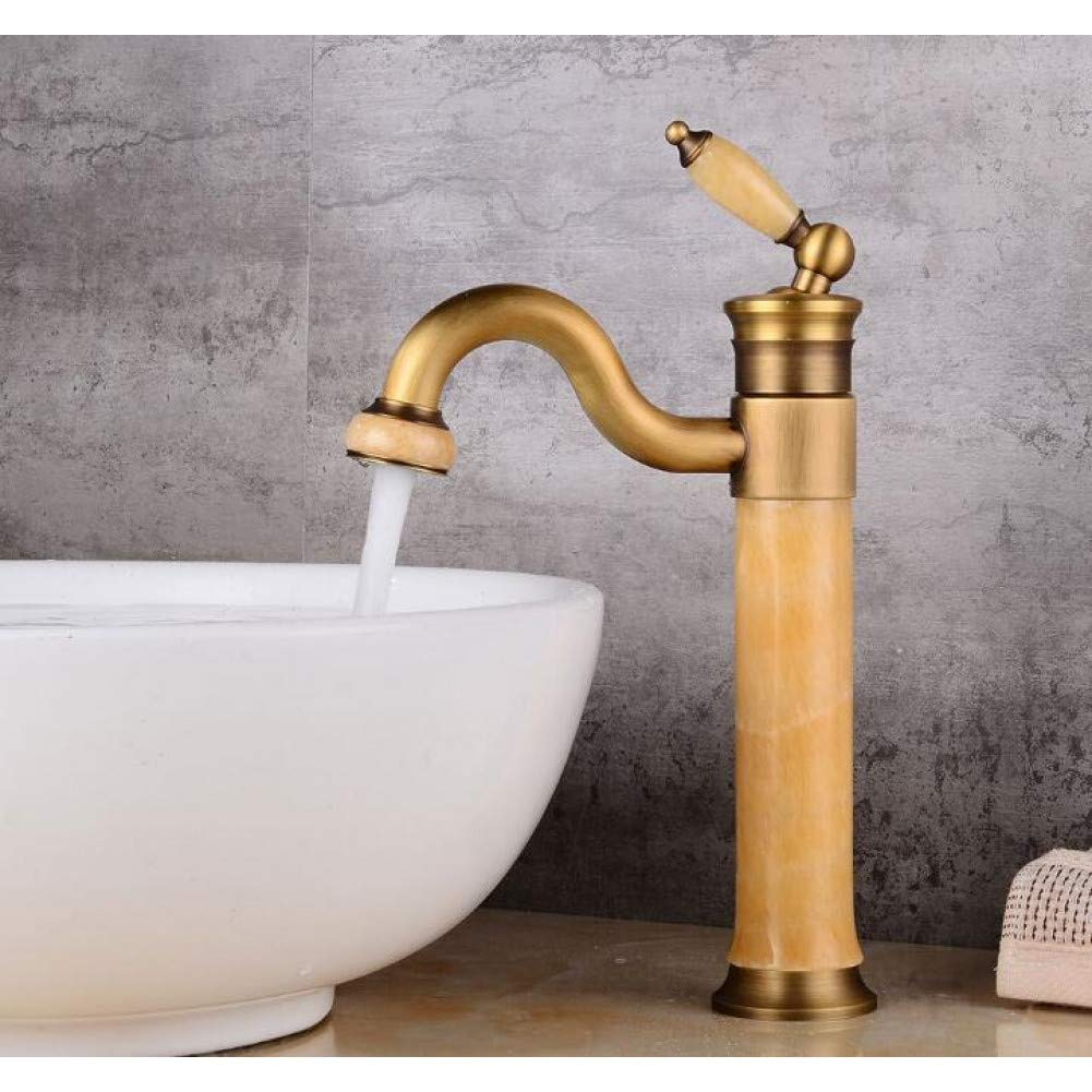 High Antique DFRQJHQGH New Style Body Bathroom Basin Faucet Brass Mixer Tap gold Sink Faucets Single Handle Basin Faucet pink gold Black
