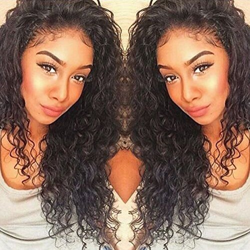 Lace Front Human Hair Wigs Deep Wave Curl Full Lace Human Hair Wigs For Black Women 8A Pre Plucked 130% Brazilian Lace Front Wigs (22 Inch Lace Front Wig) by Dream Beauty (Image #2)