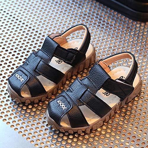 Casual Open Sneakers Per Infanzia Vovotrade Scarpe Accogliente Estate Scarpine Toe Ragazze Sandali Bambini Prima Roma Nero Ragazzi 312 In Pelle 7q7w60Y