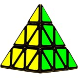 D ETERNAL YJ Pyraminx Pyramid Cube 3x3 High Speed Triangle Puzzle Cube, Multicolor