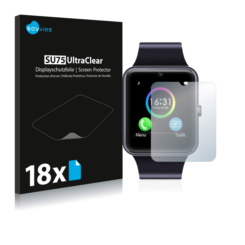 savvies Protector Pantalla Compatible con Yamay Bluetooth Smartwatch SW016 (6 Unidades) Pelicula Ultra Transparente