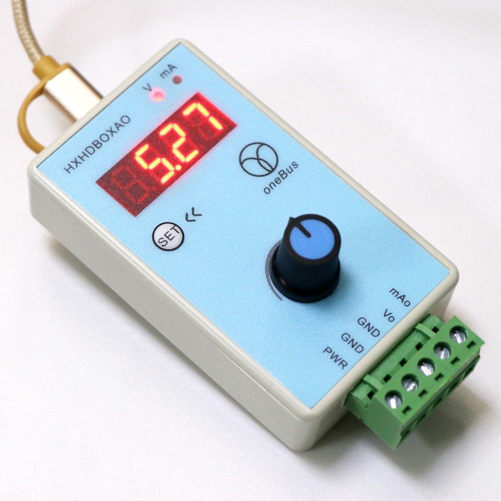 Meiqqm G/én/érateur de signal de tension analogique avec sortie de simulateur 0-10 V 0-20 mA