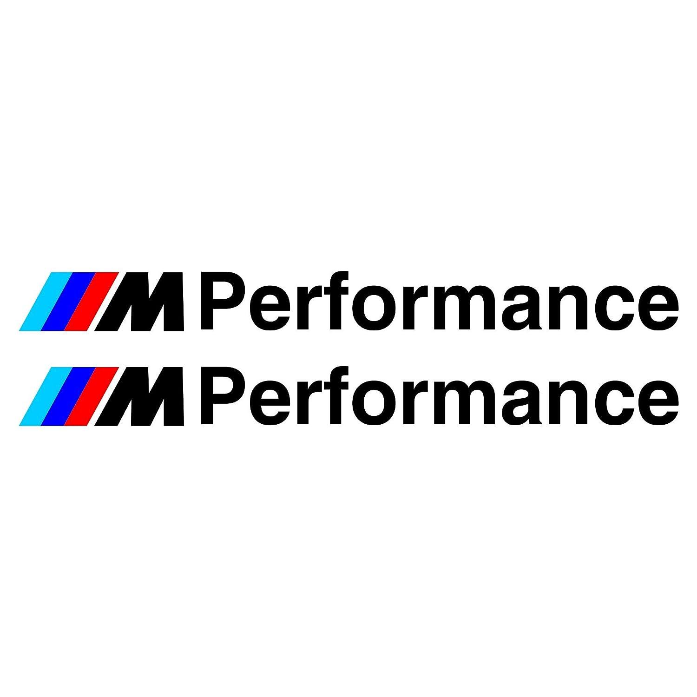 Autodomy Pegatinas BMW M Performance Pack 2 Unidades para Coche. (Plata)
