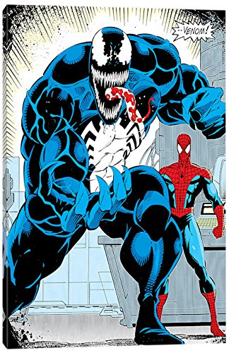 iCanvasART Marvel Comics (Retro): Venom Panel Art: Standing N N, 26
