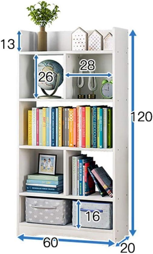 本棚 ホームオフィス本棚7収納スペース多目的本棚は、ホームオフィス本コレクションリビングルーム子供のおもちゃ部屋寝室収納装飾に使用できます。 コンパクトな多目的棚 (Color : White, Size : 120x60x20cm)
