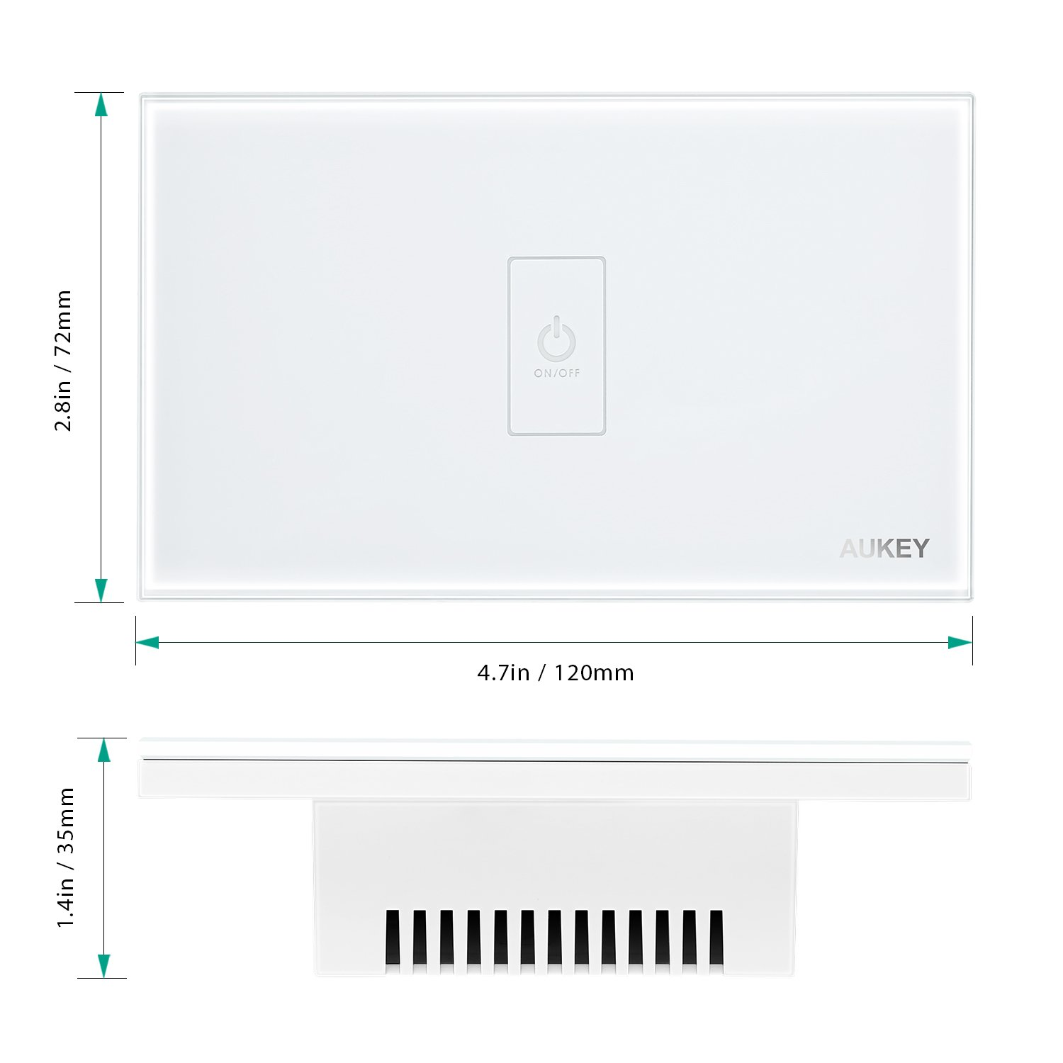 Aukey Light Switch Wall Touch Screen With Crystal 110 And 220v Ac Led Voltage Indicator Circuit Diagram Instructions Glass Panel