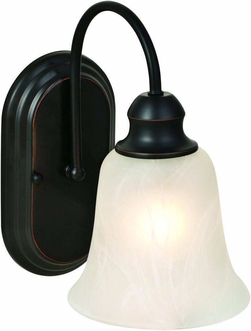 Design House 519363 Ridgeway 1 Light Wall Light, Oil Rubbed Bronze
