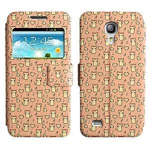 LEOCASE lindo gato Funda Carcasa Cuero Tapa Case Para Samsung Galaxy S4 Mini I9190 No.1005347