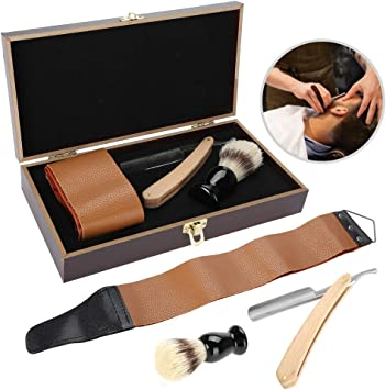Afeitadora Peluquería, Juego de maquinillas de afeitar de 3 piezas/set, Juego de regalo de afeitado perfecto para hombres jóvenes y maduros - Caja de regalo de caja ...