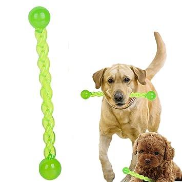 Juguete para Mascotas, legendog 2pcs Perrito Dentición Juguete de Goma Perro Interactivo Palo Mascota Masticar