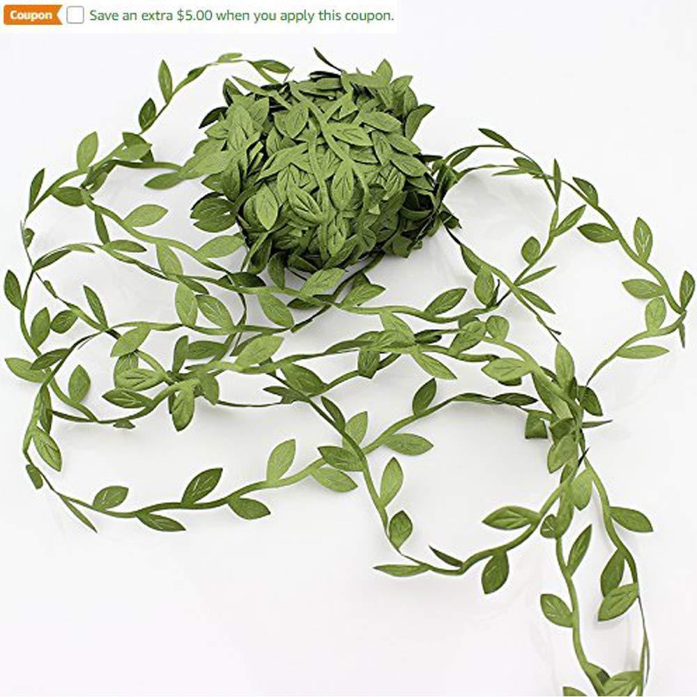 Lautechco 20m Artificial Green Flower Leaves Rattan DIY Garland Accessory for Home Decoration Lautechco®