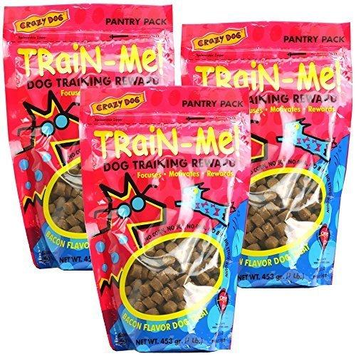 Cardinal Treats Training (Cardinal 3 PACK Crazy Dog TrainMe Treats Bacon Flavor (3 lb))