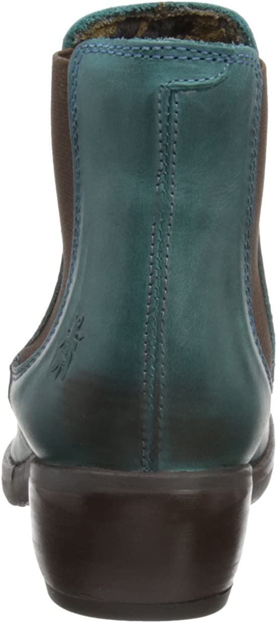 Fly London Damen Make Chelsea Boots Grün Petrol 007