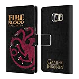 Official HBO Game Of Thrones Targaryen House Mottos Leather Book Wallet Case Cover For Samsung Galaxy S6 edge+ / Plus