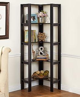 The Lakeside Collection Corner Shelving Unit Black
