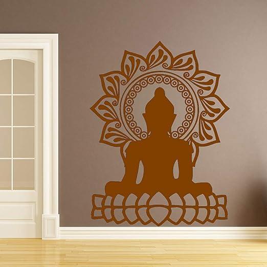 jiuyaomai Creativo Buda Mandala Lotus Autoadhesivo Etiqueta de la ...