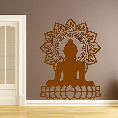 jiuyaomai Creativo Buda Mandala Lotus Autoadhesivo Etiqueta ...