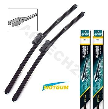 "Golf MK7 5 G 2012 + frente par Aero plano limpiaparabrisas cuchillas 26 ""18"""