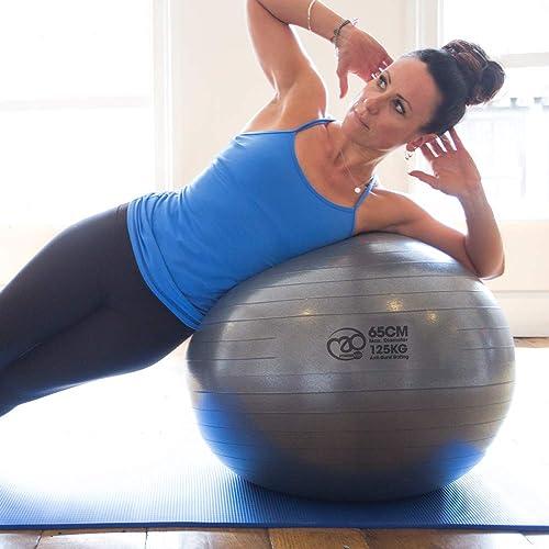 Pilates-Mad FBALL100 Yoga Ejercicio Swiss Fitness Ball, Unisex ...
