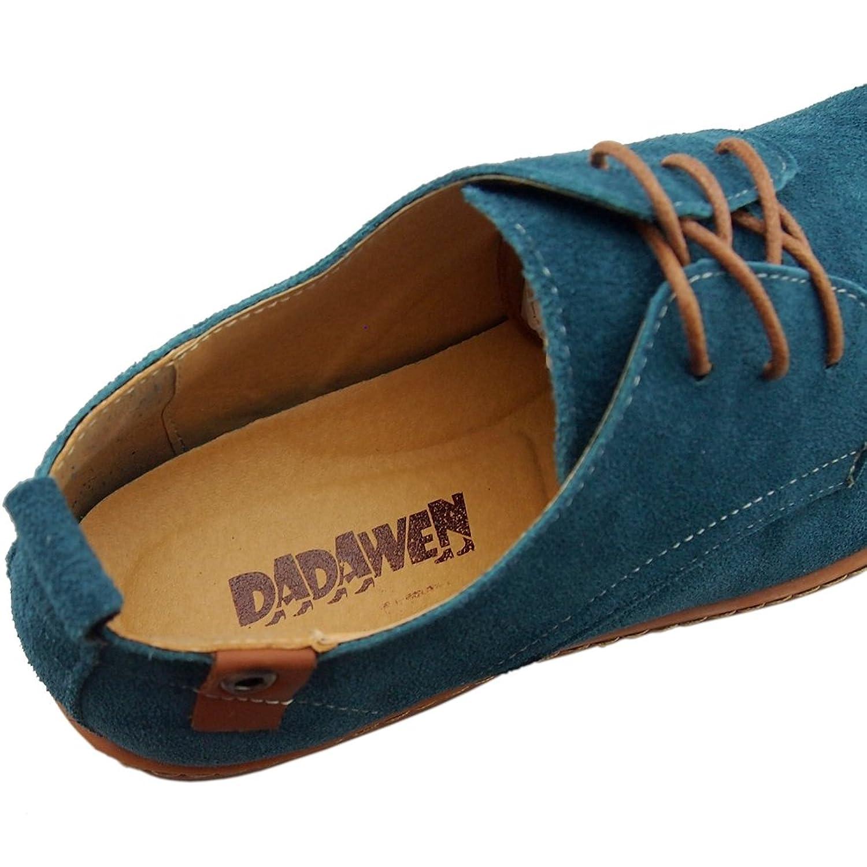 DADAWEN 10007 - Zapatos de Cordones de Piel para Hombre, Color Multicolor, Talla 40.5