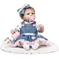 FnieYxiu Plush Dolls, Stuffed Toys 42cm Silicone Reborn Baby Girls Princess Adorable Lifelike Toddler Kids, Valentine Gift
