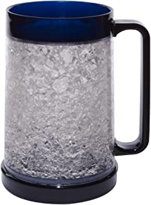 Liquid Logic Double Wall Gel Freezer Mug with Color Infused Handle, 16 oz, Navy