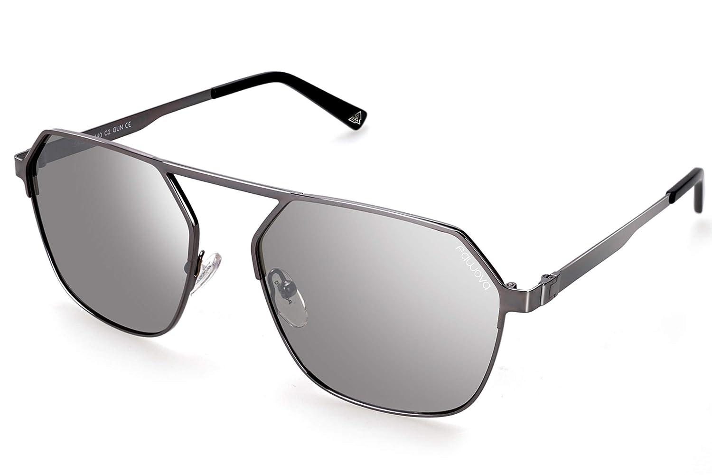 ad7babdaa8 fawova Gafas Sol Hexagonales Hombre Polarizadas, Gafas Sol Redondas Unisex,  Espejo Plateadas, Reflejado UV400, Cat.3, 56mm: Amazon.es: Ropa y accesorios
