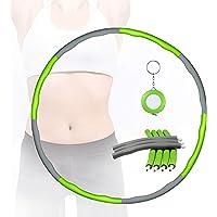 Comius Sharp Hula Hoop Afneembaar, 8 secties oefening Hula Hoop Verwijderbare Foam Hula Hoop Foam Coating Massage Button…