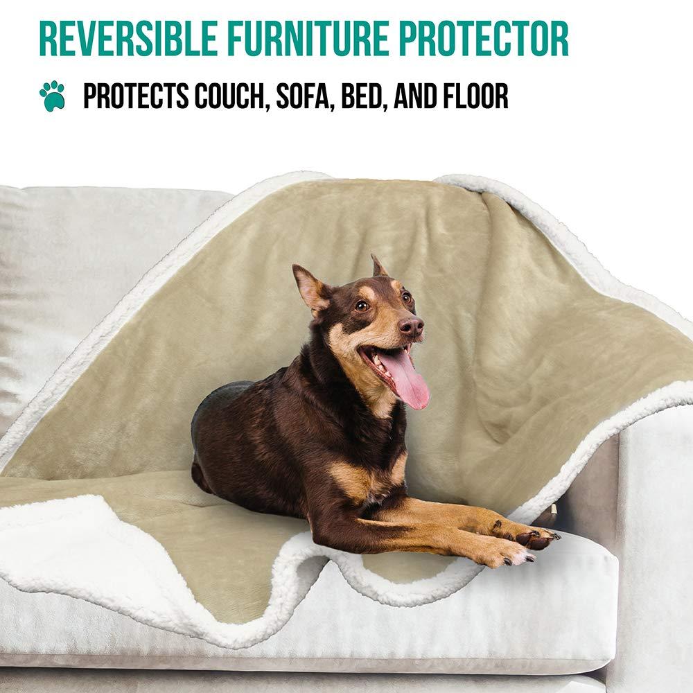 Warm Pet Blanket for Dog Bed Reversible Car Sofa Couch Plush PetAmi Dog Blanket Sherpa Dog Blanket