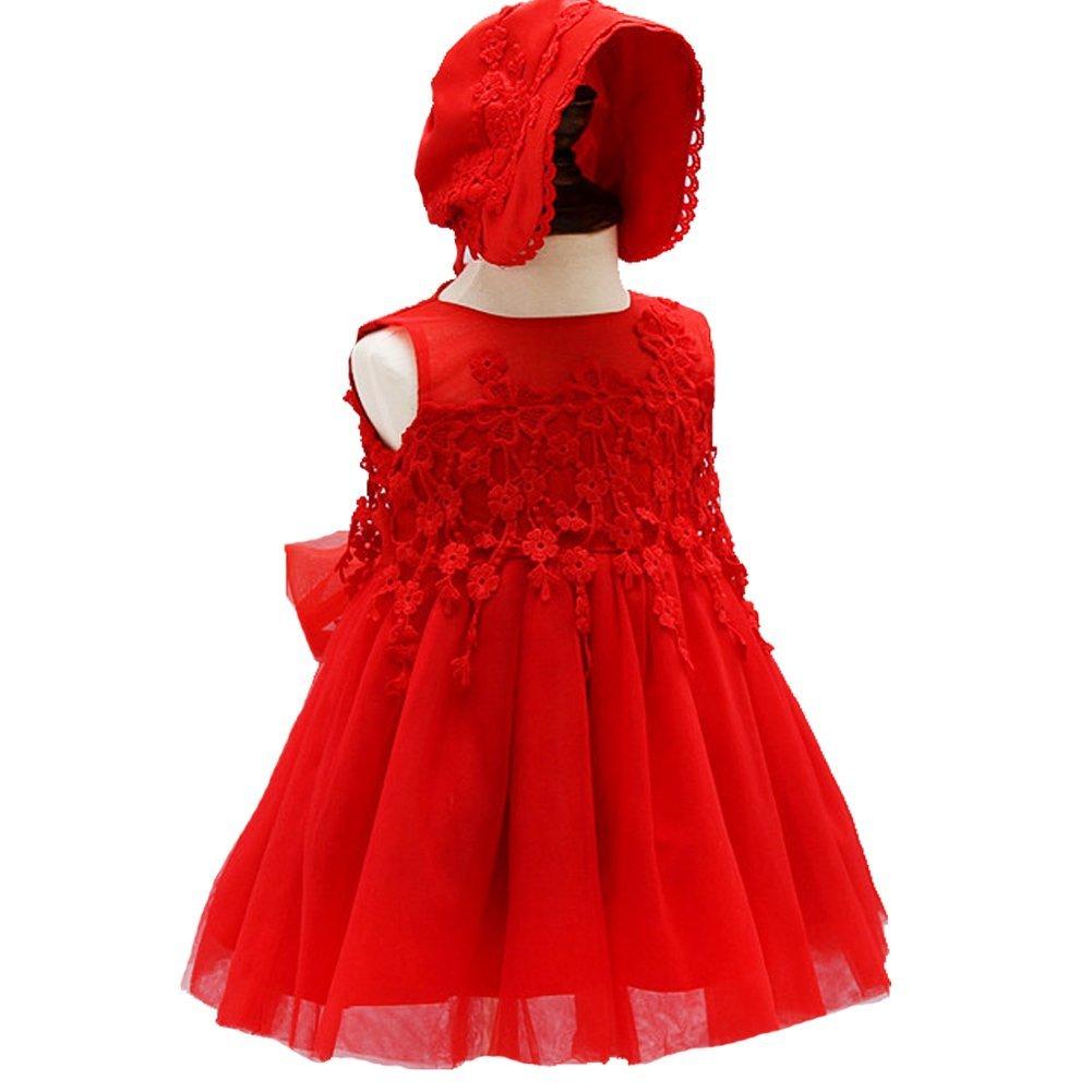 Baby Girl Dress 2PCS Christening Baptism Gowns Christmas Formal Dress Moon Kitty