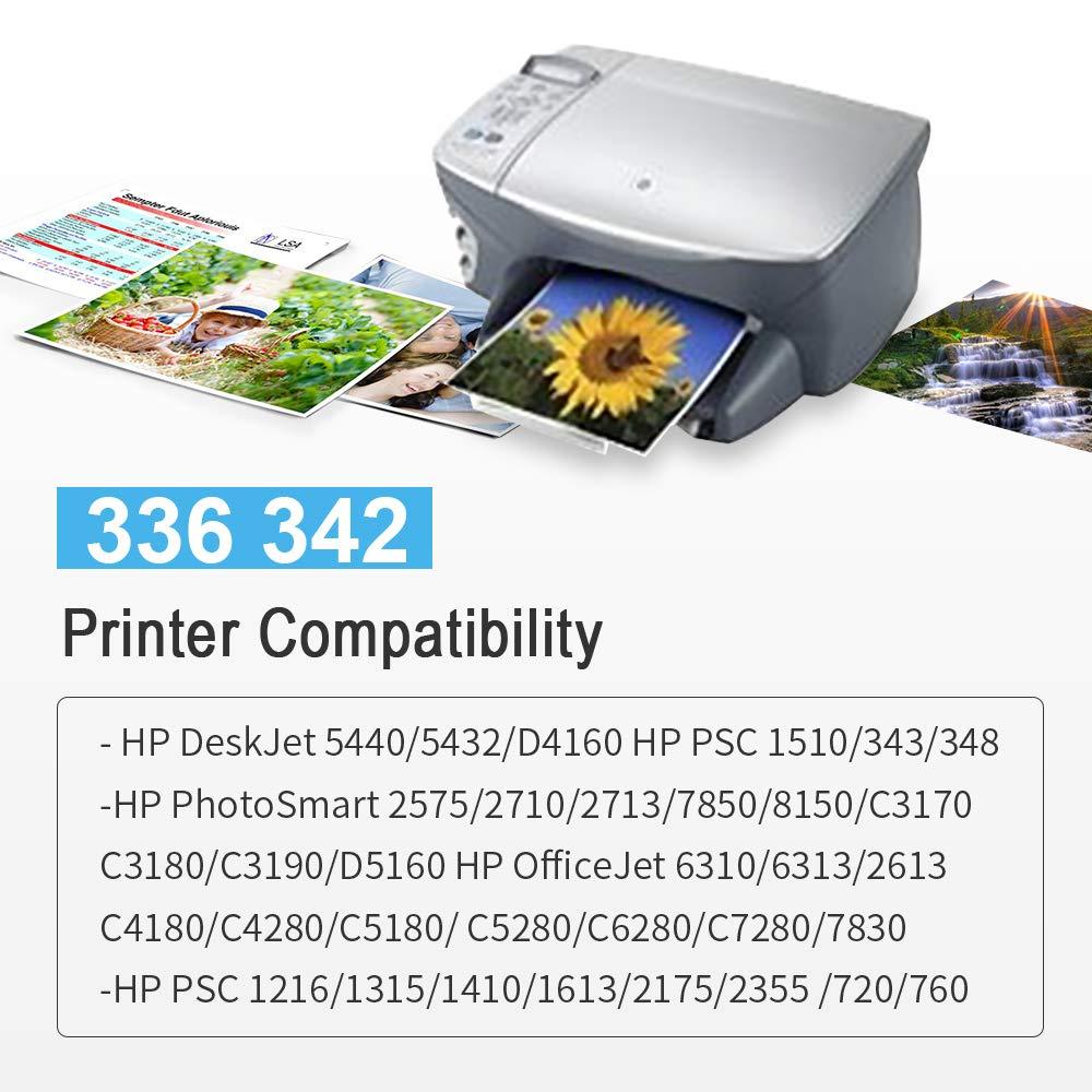 Gmoher Remanufacturado Cartucho de Tinta para HP 336 342 Cartucho ...