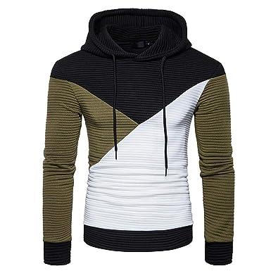 b1b123efa2 Mens Hoodies,Mens 5XL t Shirts North,Men Autumn Long Sleeve Patchwork  Hoodie Hooded Sweatshirt Top Tee Outwear Blouse