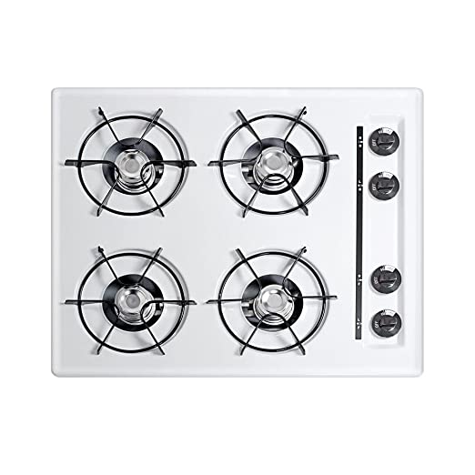 Amazon.com: Summit wnl033 Gas cooktops, color blanco: Aparatos