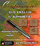 3/4 Old English Alphabet Stamp Set