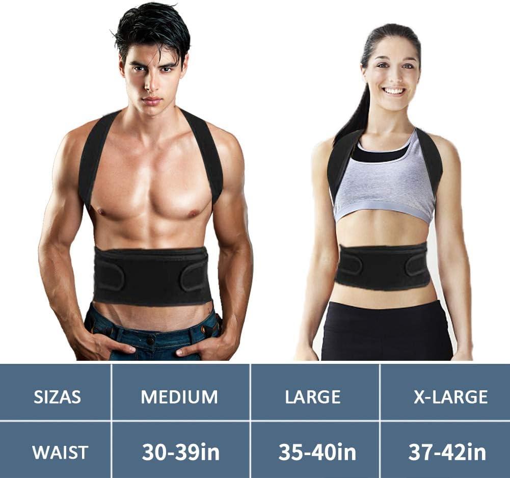 Comfortable Upper /& Lower Back Support Breathable Posture Corrector for Spine Back Brace Posture Corrector for Men Women Pain Relief of Neck shoulder-S//M Adjustable Back Brace for Back Lumbar
