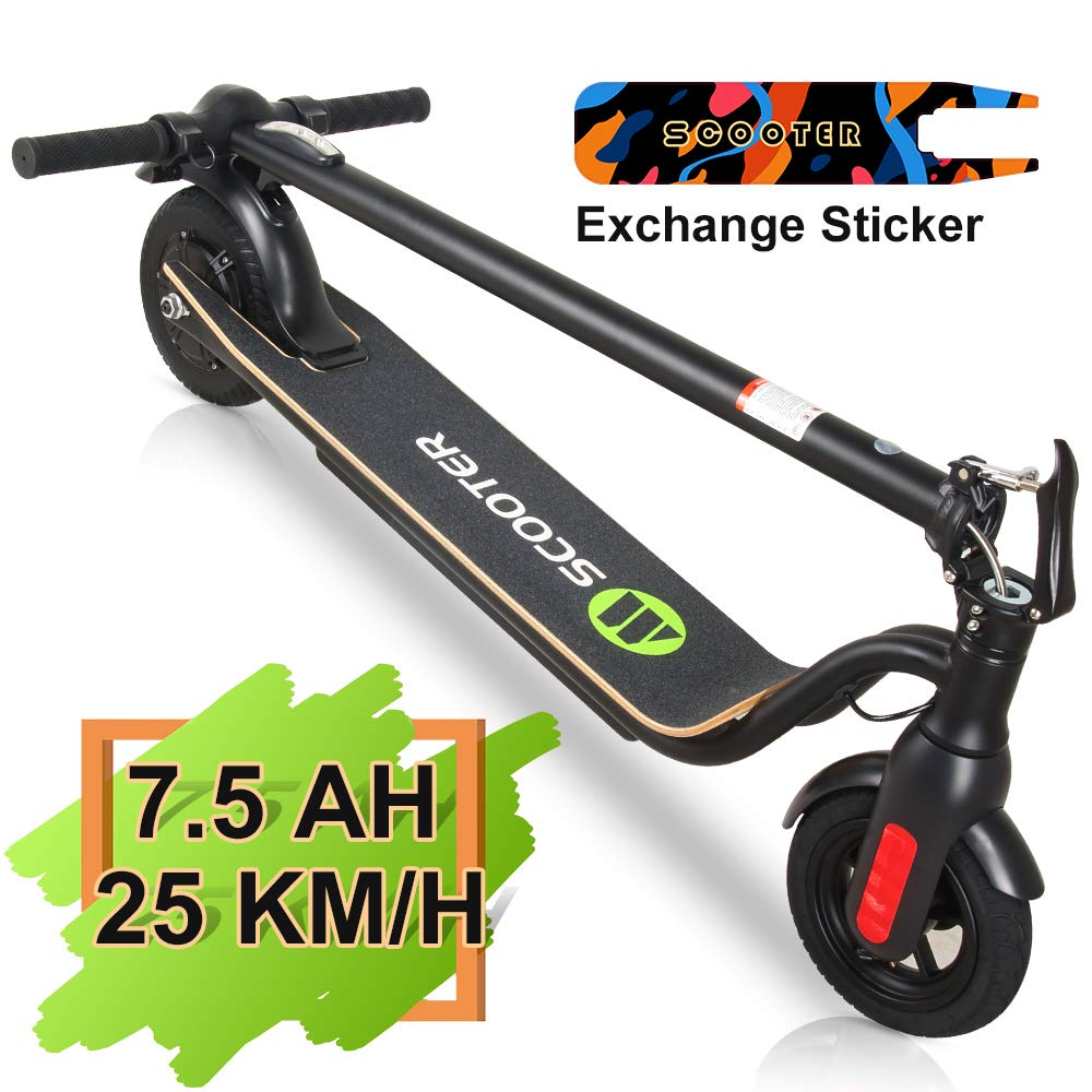 MEGAWHEELS S10 Electric Scooter Commute to Work or Ride for Fun, 7500 mAH Long Range Battery, Up to 25 KM H, 8.0 Tires, Portable and Folding Commuter Electric Scooter for Adults