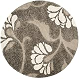 Safavieh Florida Shag Collection SG459-7913 Smoke and Beige Round Area Rug (5′ Diameter) Review