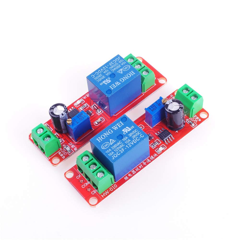 ANGEEK 2PCS NE555 Monostable delay Module Switch Delay on-Off Switch 12V Automotive Electrical delay for arduino