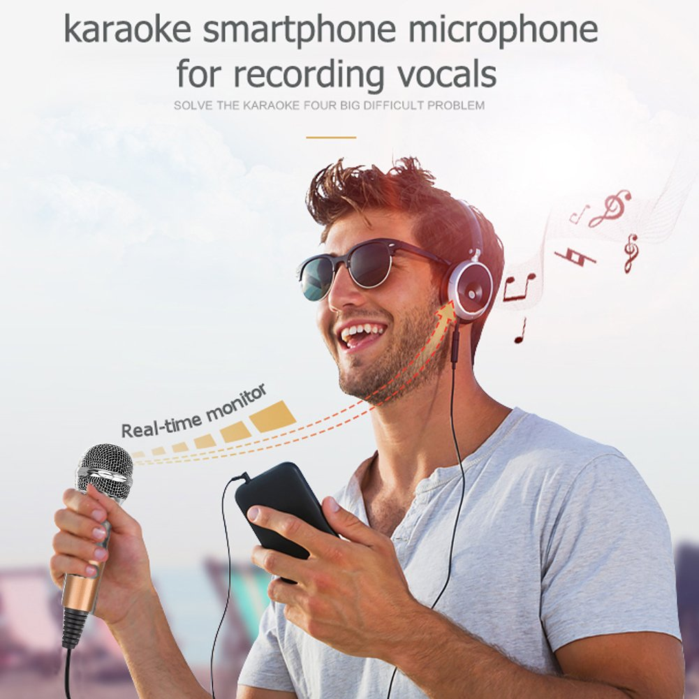 Professional Recroding Studio Microphone, 3.5mm microphone with stand, microphone for iphone andrioid mobile phone,ipads,tablet,pc,laptop computer. mic recording music, video, gaming, vocals (MC6G) by TKGOU (Image #5)