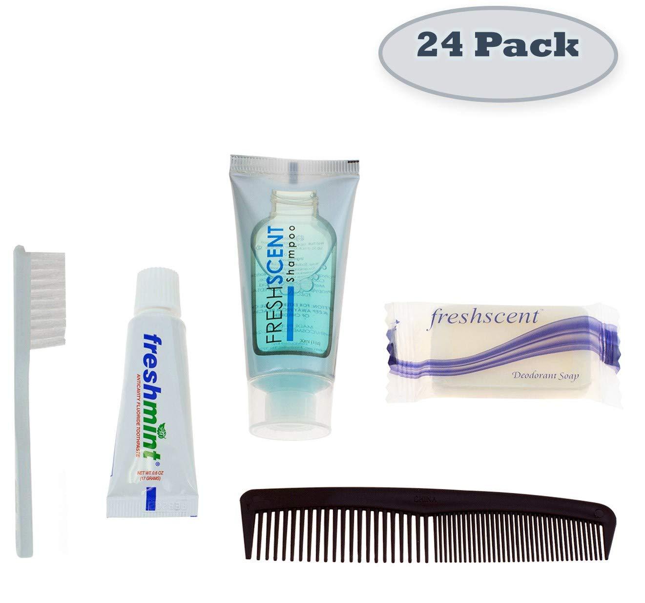 24 Kits - Bulk Case of Wholesale Basic Hygiene & Toiletry Kits for Men, Women, Travel, Charity