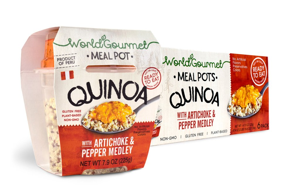 World Gourmet Quinoa Ready To Eat Meal With Artichoke And Pepper Medley (Pack of 6)